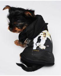 Johnny Cash Black T-shirt with Hood