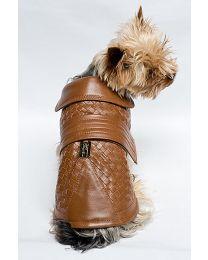 Classsic Interweave cognac jacket